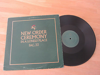 """New Order ~ Ceremony / In A Lonely Place ~ Original 1981 12"""" ~ Joy Division"""
