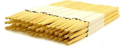 12 Pairs - 7A Wood Tip Natural Maple Drumsticks Pro 24 Drum Sticks New