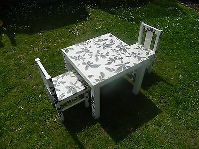 Ikea children's wooden table and chairs