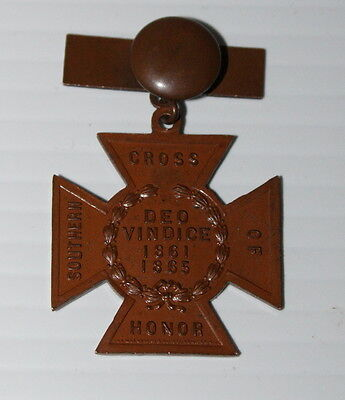 United Daughters of the Confederacy UCV Southern Cross of Honor Medal 1861-1865