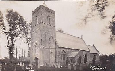 Rp Barton Bendish St Andrews Church Harold Stoke Ferry Norfolk  Real Photo 1923