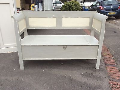 Pine Box Settle, Bench , Storage Shabby Chic