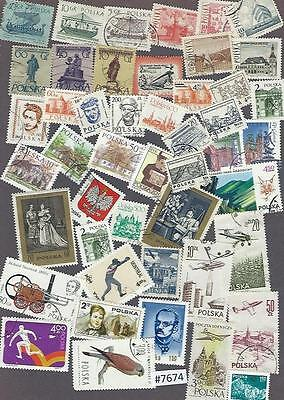 #7674 POLAND Clearance Lot mostly Used Stamps
