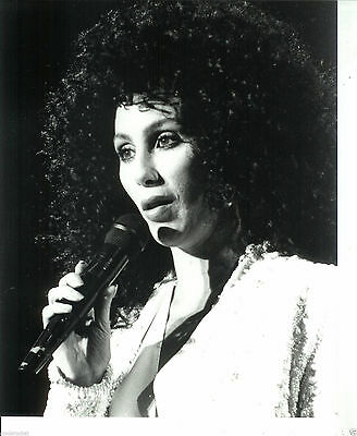 """Cher 8"""" x 10"""" Black & White Photo from The Heart of Stone Tour-#8-1990"""