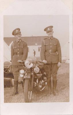 Ww2 Rp Stiffkey Soldiers Motorcycle T.a Army Military Camp Norfolk 1939 R Photo