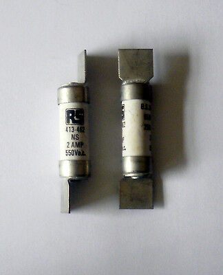 RS Offset tag fuses 2Amp x2  B.S. 88 pt1