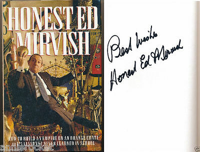 """""""Honest Ed"""" Mirvish Signed HC Book-How To Build An Empire On A Orange Crate-1993"""