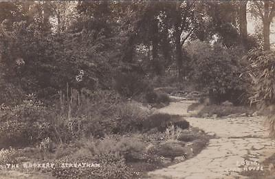 Rp Streatham The Rockery Garden London By Card House Real Photo 1924