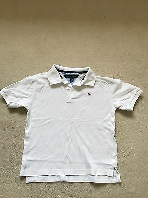 Tommy Hilfiger white polo shirt size S/P - 8/10 years short sleeved