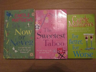 Carole Matthews Books  Its Now Or Never The Sweetest Taboo For Better For Worse