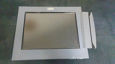 "IBM 40N5760 POS 12"" Touchscreen LCD Display 12DB w/Credit Card Reader"