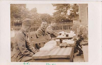 Ww2 Rp Stiffkey Area Soldiers At  Pub From T.a Army Military Camp Norfolk 1939