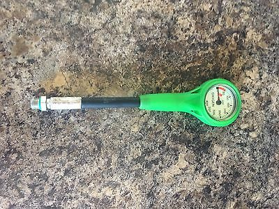 O2 contents guage Diving. 400bar O2/Nitrox gauge with hose and swivel.