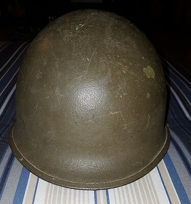 WWII WW2 Rear Seam Swivel Bale M1 Helmet and Westinghouse electric  Liner