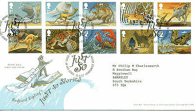 2002 JUST SO STORIES first day cover TALLENTS HOUSE Postmark
