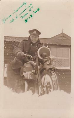 """Ww2 Rp Isle Of Grain  """" Don R """" On Ariel Military Motorcycle  Kent 1940"""