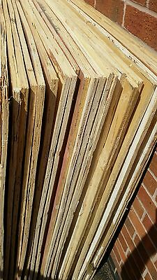 9mm used/reclaimed plywood boards (x30)