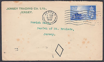 1948 Channel Islands Liberation Jersey Trading Co FDC: St.Brelade Parish Hall