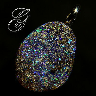 Sparkling Colour Opal S/S 925 Pendant 5.13 ct *Opals by Grace*