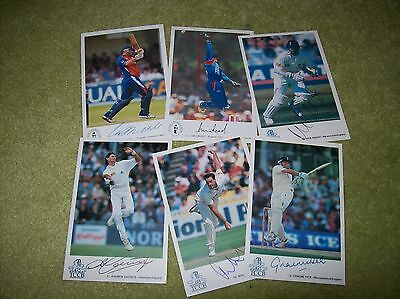 6 SIGNED England Test Player Classic Cricket Cards - Knight, Blackwell, Read