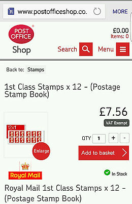 Royal Mail Stamps 1St Class X10 Books Of 12 Stamps (X120 Stamps)