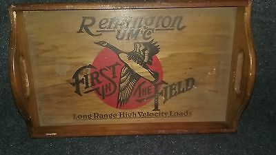 Vintage Remington Arms Wood Serving Tray