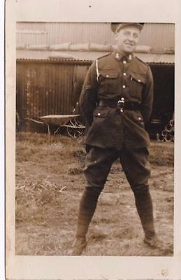 WW2 RP ISLE OF GRAIN MILITARY CAMP MECHANIC / SOLDIER & SHEDS   KENT c1940