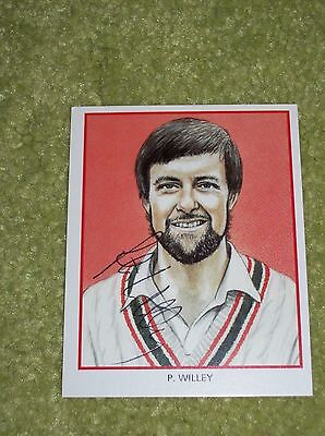 Peter Willey SIGNED County Print Services Cricket Card