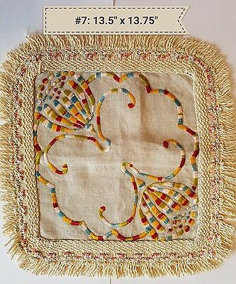 A4 Antique Colorful Arts & Crafts Stickley Mission Decor Doilies Doily