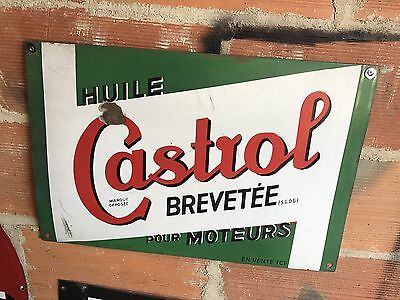 Plaque Emaillee Ancienne Castrol