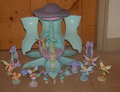Disney TINKERBELLS TOADSTOOL HOUSE fairy treehouse + FAIRIES & more