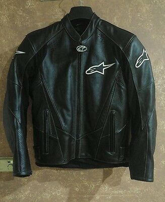Alpinestars Giacca Moto In Pelle  Leather Jacket Nero Tg 50