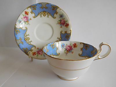 1920's AYNSLEY CUP AND SAUCER WITH BATWING TYPE DECORATION