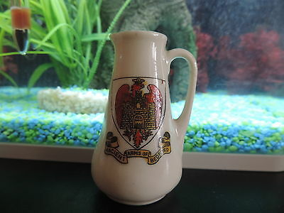 Crested China Willow Art Tall Jug - Bedford