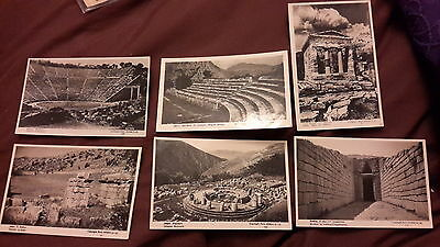 6 x vintage postcards of Athens
