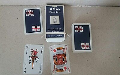 VINTAGE 1950's PACK OF PLAYING CARDS - ROYAL NATIONAL LIFEBOAT INSTITUTION RNLI