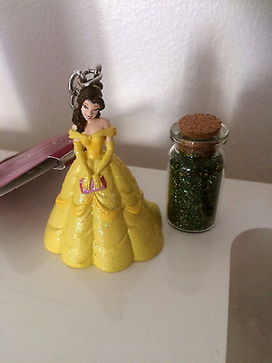 Beauty and the Beast Belle Keyring and Tinkerbell Fairy Dust DISNEY