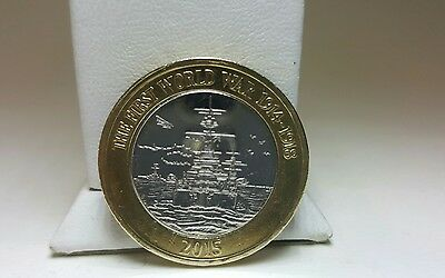 2015 Great Britain First World War Royal Navy Belfast £2 Two Pound Coin  Great