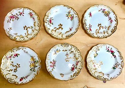 Superb 1890 George Jones Crescent China Set Of 6 Tea Plates