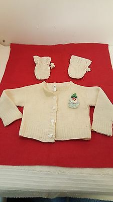 Vintage Baby Sweater Set for a Large Doll