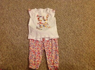 baby girls top and trousers set age 3-6 months
