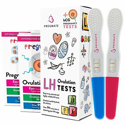 PREGMATE 8 Ovulation LH And 2 Pregnancy HCG Midstream Tests Predictor Kit Sticks