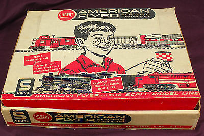 Gilbert American Flyer S Gauge Electric Train Set Untested  - Nice!