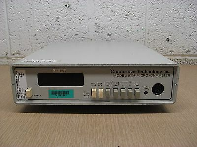 Cambridge Technology Model 510A Micro-Ohmmeter Only No Probes Used Free Shipping
