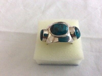 Navajo Vintage Silver And Turquoise Ring