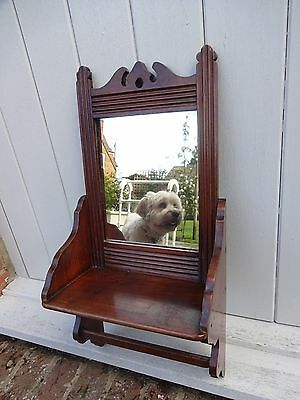 Victorian Hall Mirror with Shelf