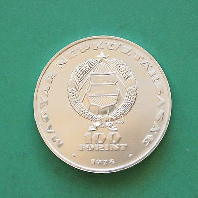 1974 Hungary Silver 100 Forint 25th Anniversary of KGST SNo45151