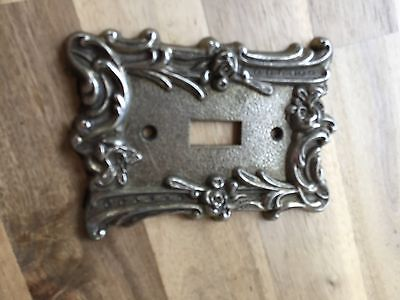 Vintage Ornate Metal Single Light Switch Plate Cover Floral Flowers Edmar
