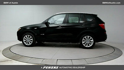 2017 BMW X3 sDrive28i Sports Activity Vehicle sDrive28i Sports Activity Vehicle 4 dr Automatic Gasoline 2.0L 4 Cyl Jet Black