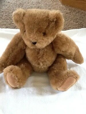 Vermont Teddy Bear Company Jointed Honey Color 16 inches Made in USA!!